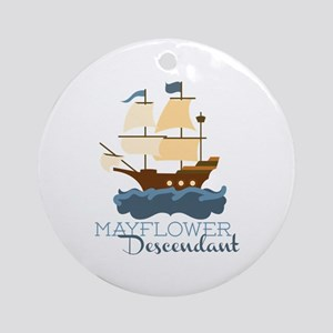 Mayflower Descendant Ornament (Round)