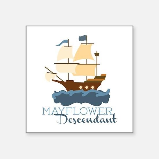 Mayflower Descendant Sticker