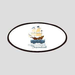 Mayflower Descendant Patches