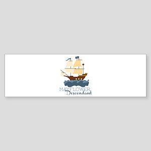 Mayflower Descendant Bumper Sticker