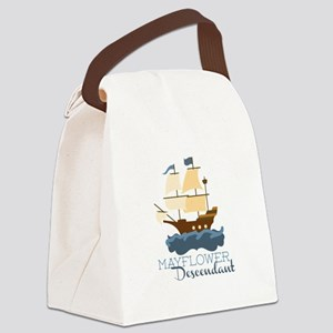 Mayflower Descendant Canvas Lunch Bag