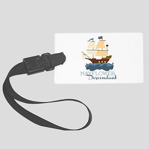 Mayflower Descendant Luggage Tag