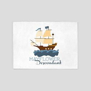 Mayflower Descendant 5'x7'Area Rug