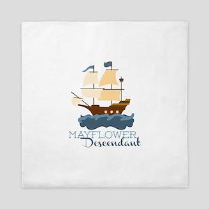 Mayflower Descendant Queen Duvet