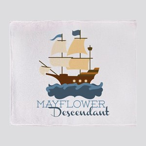 Mayflower Descendant Throw Blanket