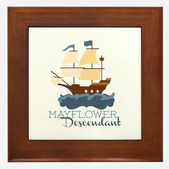 Mayflower Descendant Framed Tile