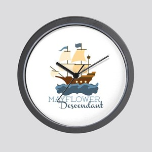 Mayflower Descendant Wall Clock