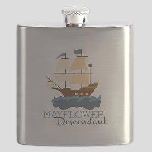Mayflower Descendant Flask