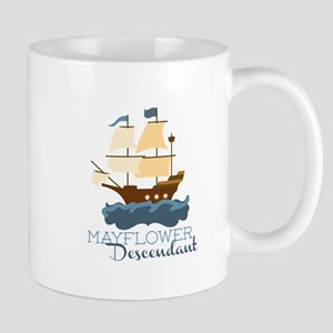 Mayflower Descendant Mugs