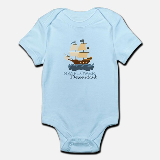 Mayflower Descendant Body Suit