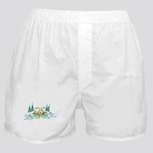 Animals in a Canoe Boxer Shorts