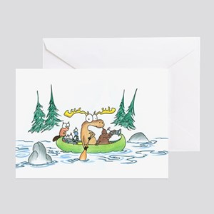 Animals in a Canoe Greeting Cards (Pk of 10)