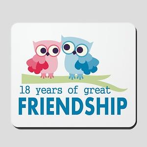 18th Anniversary Owl Wedding Anniversary Mousepad
