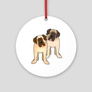 Mastiff Top Ten Ornament (Round)
