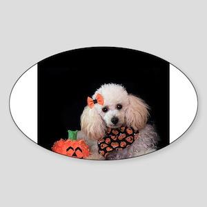 Halloween Poodle Sticker