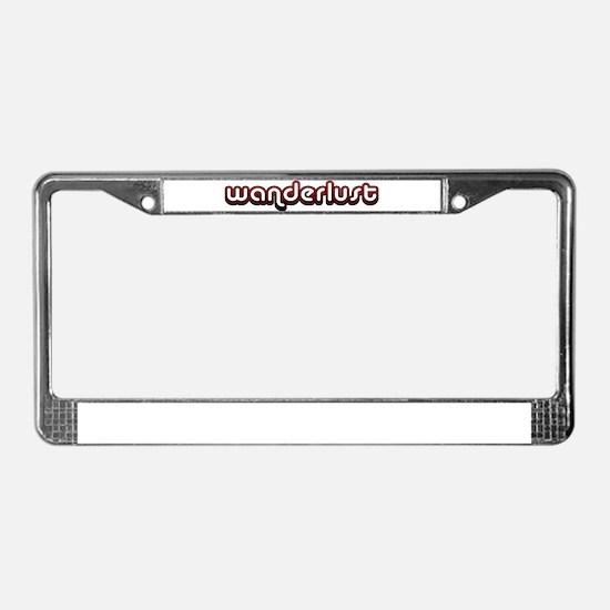 Unique Wanderlust License Plate Frame
