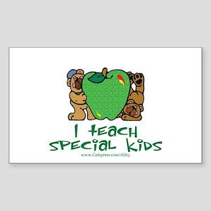Teach Special Kids Rectangle Sticker