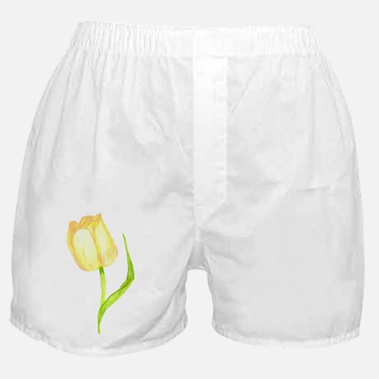 Yellow Tulip Boxer Shorts