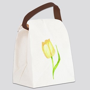 Yellow Tulip Canvas Lunch Bag