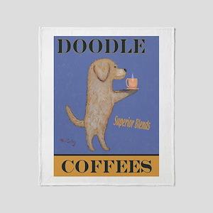 Doodle Coffee Throw Blanket