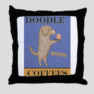 Doodle Coffee Throw Pillow