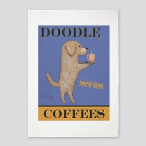 Doodle Coffee 5'x7'Area Rug
