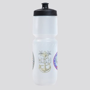 CVN-76 USS Ronald Reagan Sports Bottle