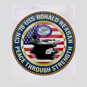 CVN-76 USS Ronald Reagan Throw Blanket