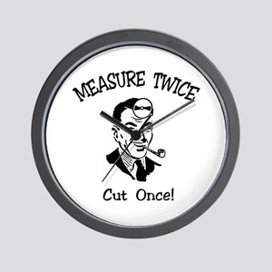 Cut Once Wall Clock
