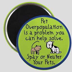 Overpopulation Spay & Neuter Magnet