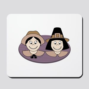 Pilgrim Couple Mousepad