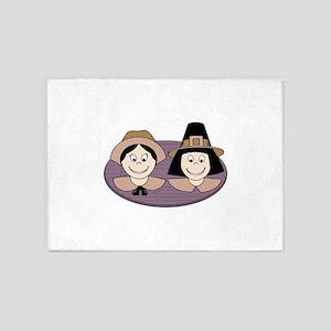 Pilgrim Couple 5'x7'Area Rug