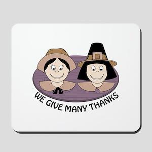 Give Many Thanks Mousepad