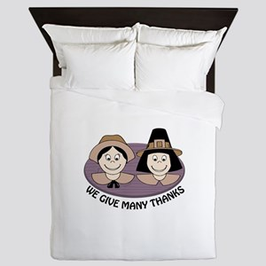 Give Many Thanks Queen Duvet