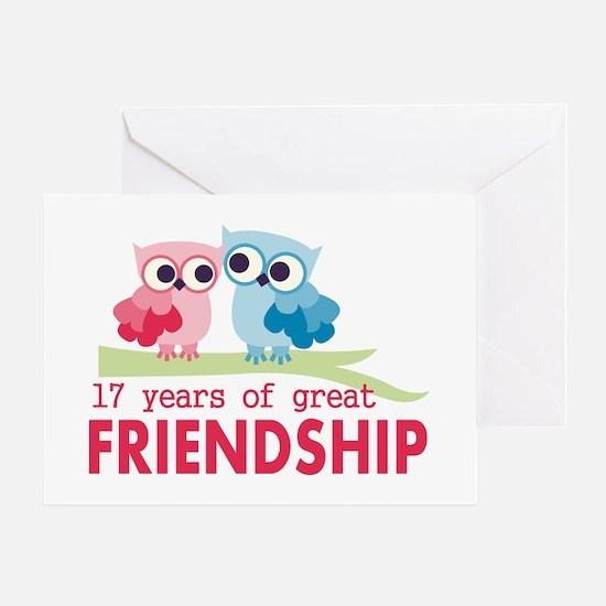 17th Anniversary Hoot Greeting Card