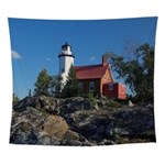 Eagle Harbor Lighthouse Wall Tapestry