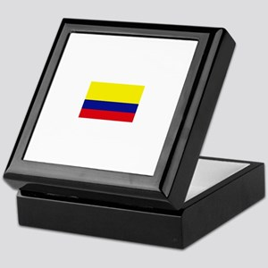 colombia flag Keepsake Box
