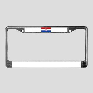 croatia flag License Plate Frame