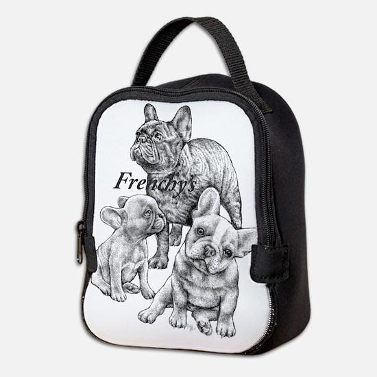 Unique English bulldog happy birthday Neoprene Lunch Bag