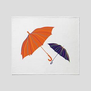 Striped Unbrellas Throw Blanket