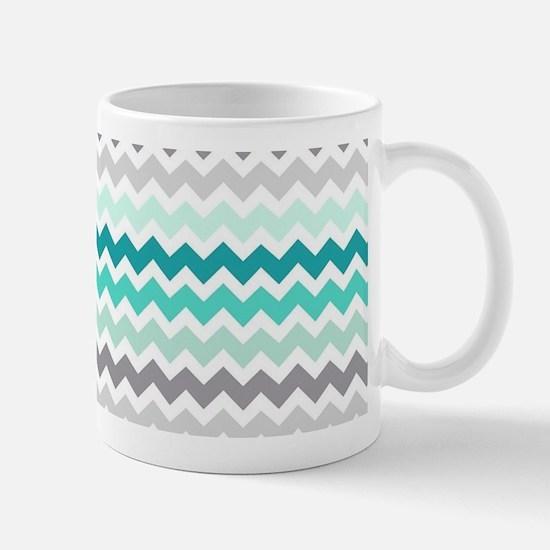 Cute Aqua chevron Mug