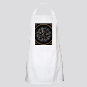 Old metal skulls in the mist Apron