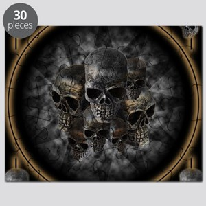 Old metal skulls in the mist Puzzle