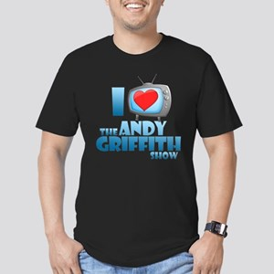 I Heart the Andy Griffith Show Men's Dark Fitted T