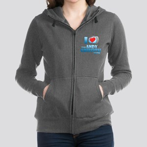 I Heart the Andy Griffith Show Women's Zip Hoodie