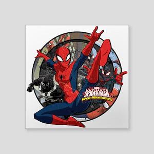 "Web Warriors Spider-Girl Square Sticker 3"" x 3"""