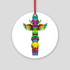 Totem Pole Ornament (Round)
