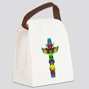 Totem Pole Canvas Lunch Bag