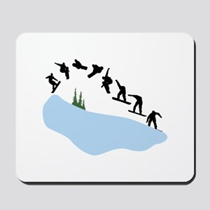 Snowboarding Trick Graphic Mousepad