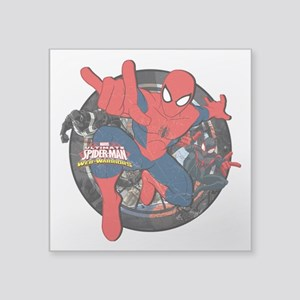 """Web Warriors Spider-Man Square Sticker 3"""" x 3"""""""